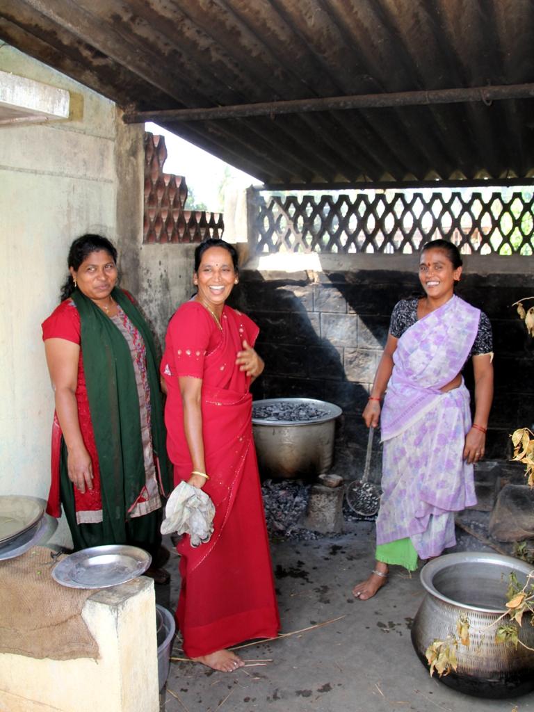 Frauen am kochen
