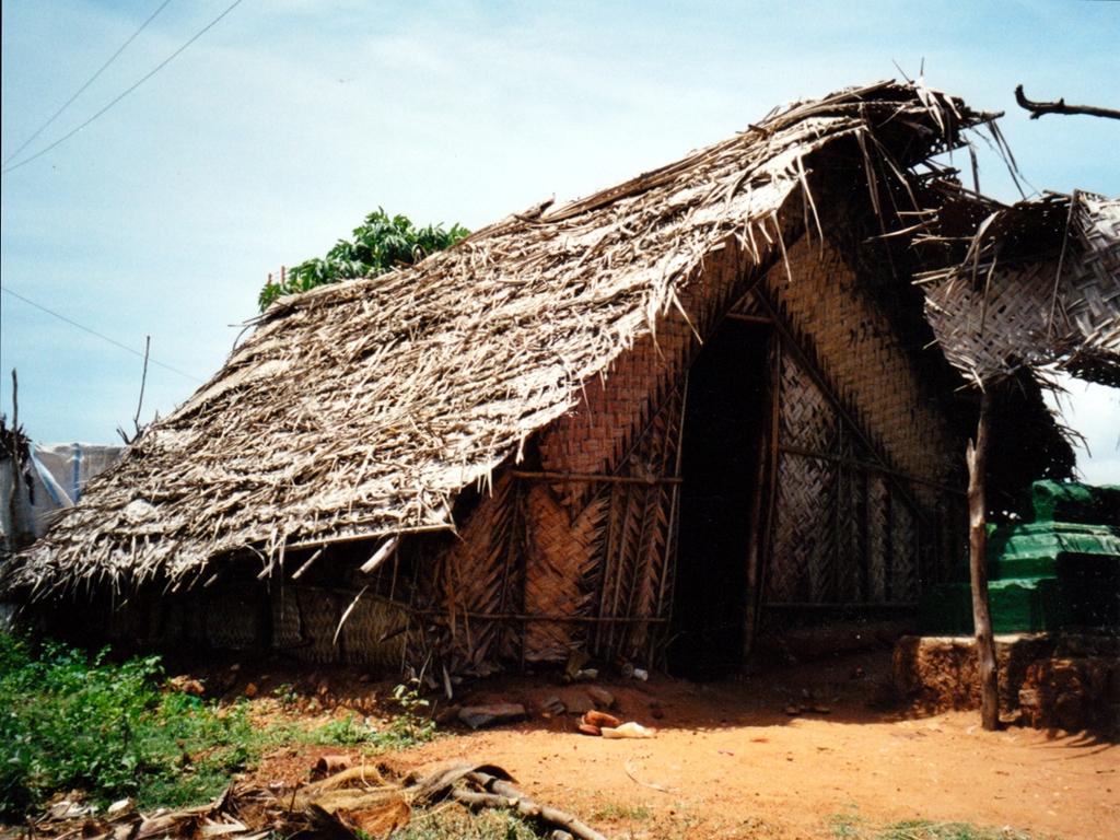 Die Hütte von Mubeebtaj und ihrer Familie