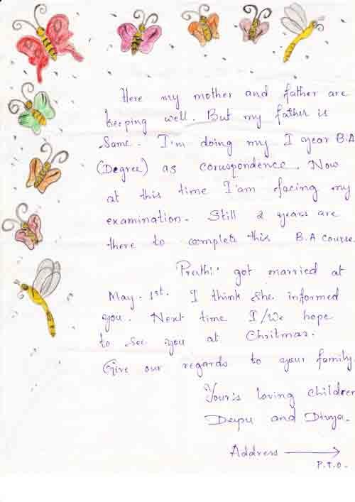 Zweiter Dankesbrief von Divya 3/3