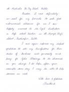 Dankesbrief von Shanthi