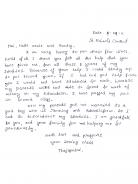 Dankesbrief von Thejaswini